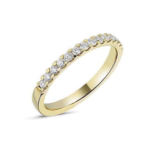 Nuran garder alliance ring i 14 karat guld med 0,01 - 0,35 ct diamanter